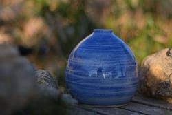Urne d'incinération animale en céramique